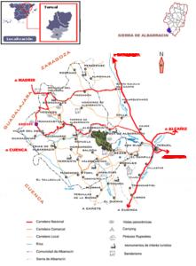 mapa sierra